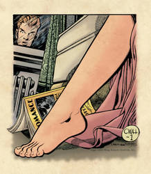 The Case of the Wayward Husband #1, 1949 (color) by johncastelhano