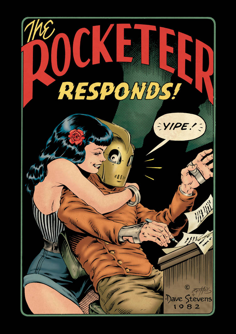 Cliff and Betty (The Rocketeer, 1982) - color by johncastelhano