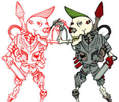Weird artist skull by HorrorRudey