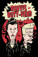 PSYCHOBILLY BEAVIS and BUTTHEAD by HorrorRudey