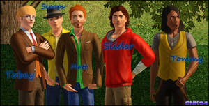 Sims 3 - Boys Group Photo by Cartooniack1994