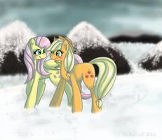 Snow Stroll by DaikaLuff