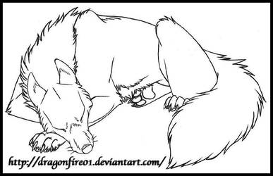 Wolf Nap by DracoFeathers