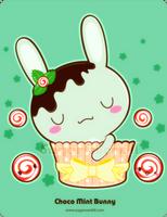 Chocolate Mint Bunny by mAi2x-chan