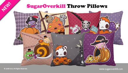SugarOverkill Throw Pillows by mAi2x-chan