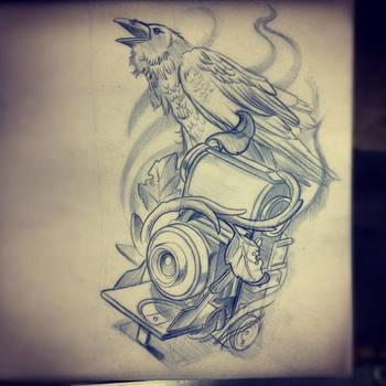 Crow Camera by IllustratedEye
