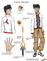 Ethan Tergard reference sheet by Calder