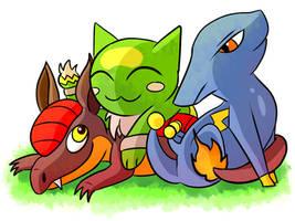 Pokemon Uranium Starters by X-BlackPearl-X