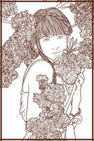 In Bloom Lineart by shucklebux