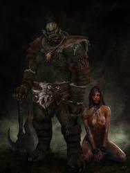 The Orc And The Elf by funkyalienlovers