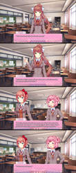 #1 - Sayori's thought by Childish-N
