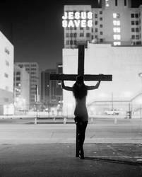 Jesus Saves, Hill St. Out-take by Kojii-Helnwein