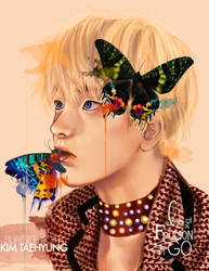 Kim Taehyung: Sunset Moth by IntoTheFrisson