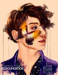 Jeon Jungkook: Sunset Butterfly by IntoTheFrisson