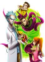 Rick y Morty fanart by Rawder by Rawder-Beoluve