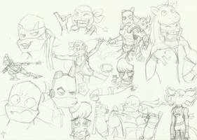 RotTMNT sketchdump by PastellTofu