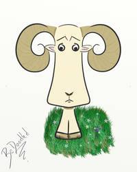 Cartoon Ram by Bedoodled