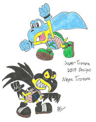 Super Troopa and Nega Troopa - 2019 by BlackCarrot1129