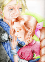 Cloud and Aerith by x-Tsila-x