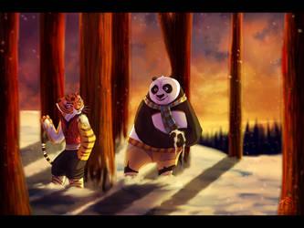 Winter woods. by Suzamuri