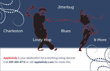 AppleLindy Promotional Postcard by drkdsgn