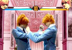 Hikaru and Kaoru...Fight by DakoDak0