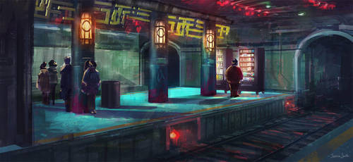 Tunnel and a Vending Machine by Mei-Xing