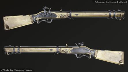 Bone gun by GregoryTrusov