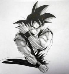 Son Goku - sketch by Darko-simple-ART