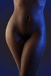 Beautiful Nude Black Female Torso by csp-media