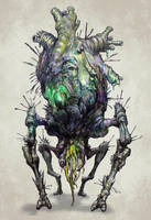 Bloodborne Inspired creature by GeniusFetus