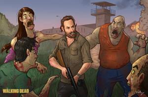 The walking Dead Rick by Migska