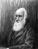 Charles Darwin Sketch by bronze-dragonrider