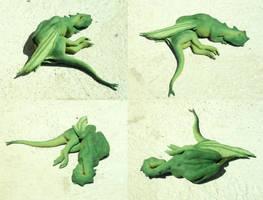 Sleeping Firelizard - Painted by bronze-dragonrider