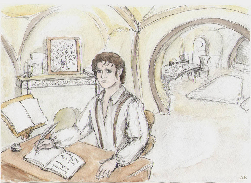 Frodo in Bag End by AnotherStranger-Me