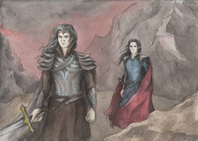 Morgoth and Sauron by AnotherStranger-Me