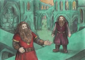Gloin and Gimli in Erebor by AnotherStranger-Me