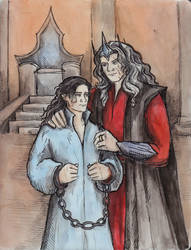 Morgoth and Maeglin by AnotherStranger-Me