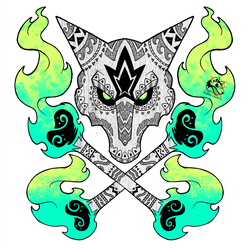Tribal Alolan Marowak by Darksilvania