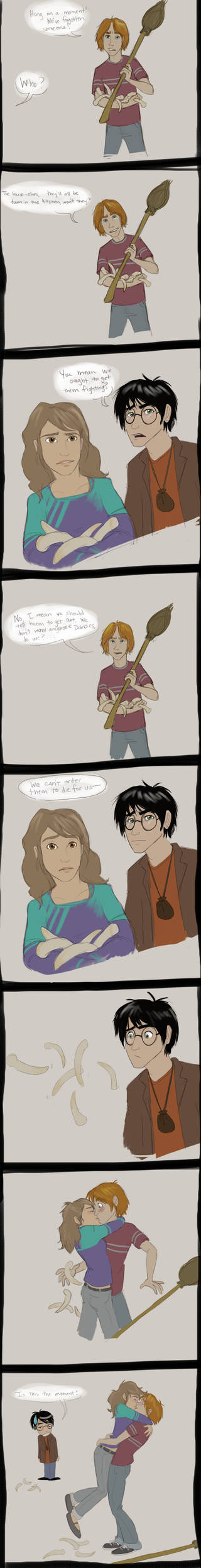 Ron and Hermione-HP7 spoiler by trustahope