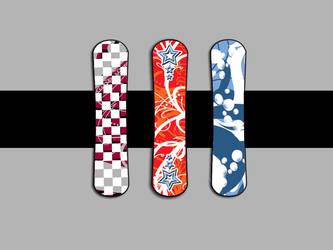 Snowboards by moonburst23