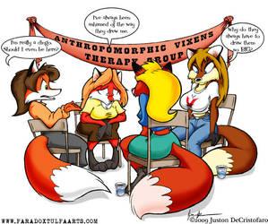 Anthropomorphic Vixen Therapy by GreyOfPTA