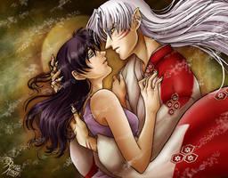 Sesshoumaru and Kagome by AnnieMsson