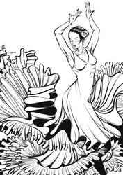 Flamenco linework by CrisVector