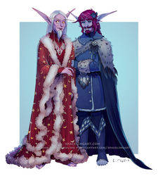 #WarcraftWinterBall: the Duskswifts by SpacelingArt
