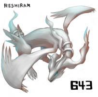 reshiram by doghiko