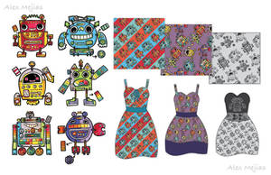 Pattern - Robots by SaltyMoose
