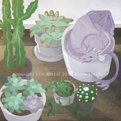 Tiny Succulent Dragon by erinwitzel