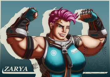 Fanart - Overwatch - Zarya by LadyRosse