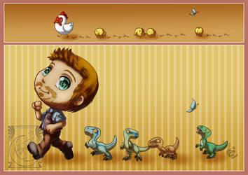 Fanart - Jurassic World by LadyRosse